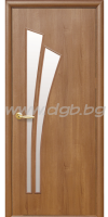 Интериорна врата ,модел Лилия,остъклена,цвят златна елха